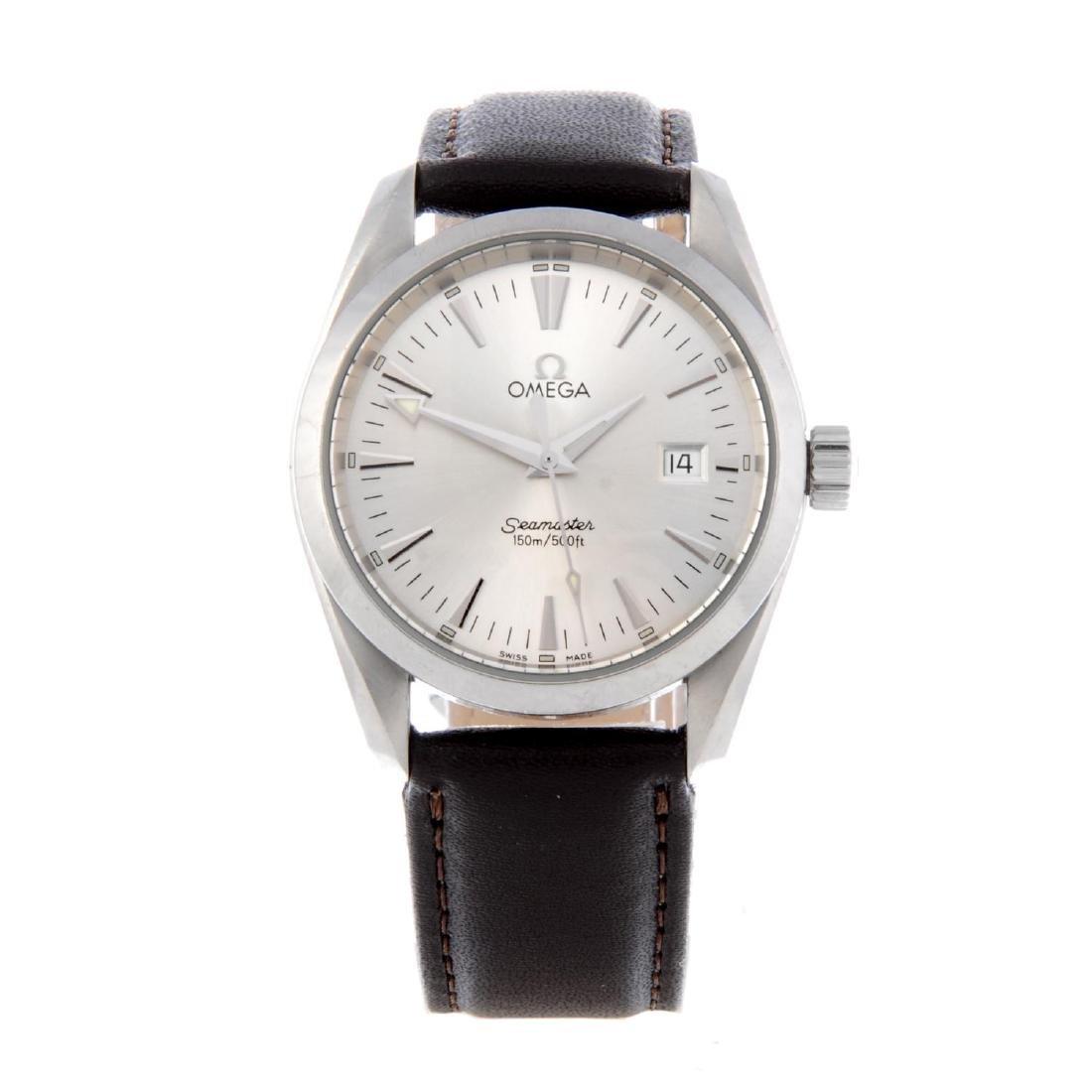 OMEGA - a gentleman's Seamaster Aqua Terra wrist watch.