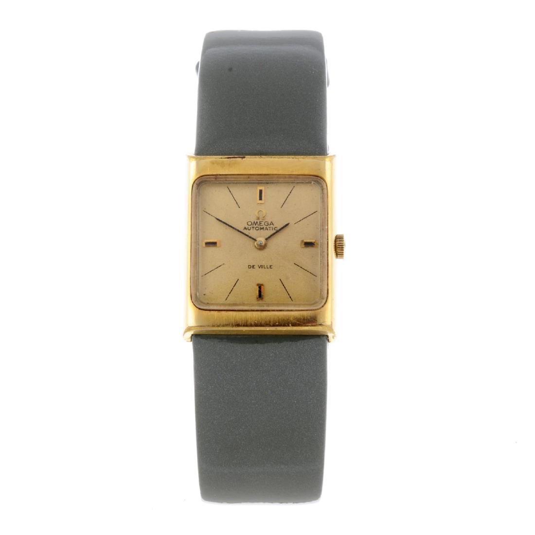OMEGA - a lady's De Ville wrist watch. Gold plated case