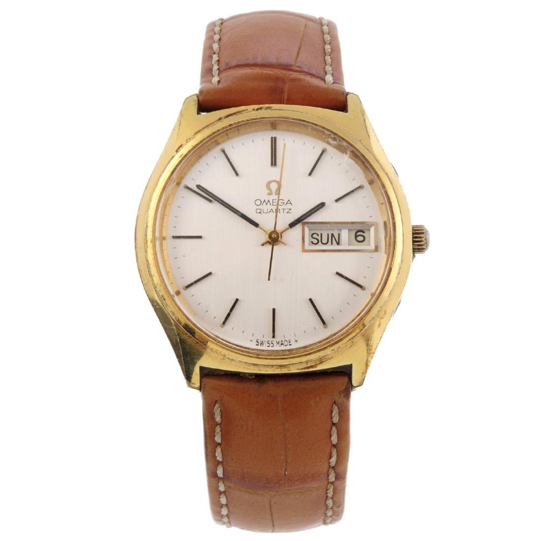 OMEGA - a gentleman's wrist watch. Gold plated case