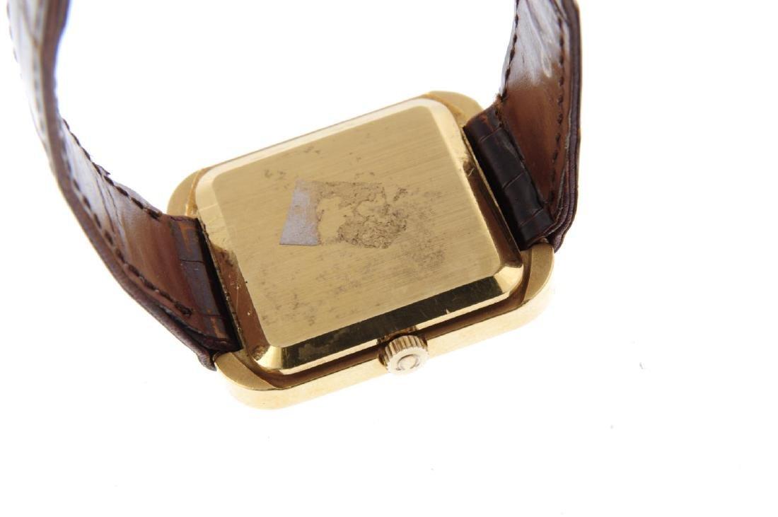 OMEGA - a gentleman's wrist watch. Yellow metal case, - 3