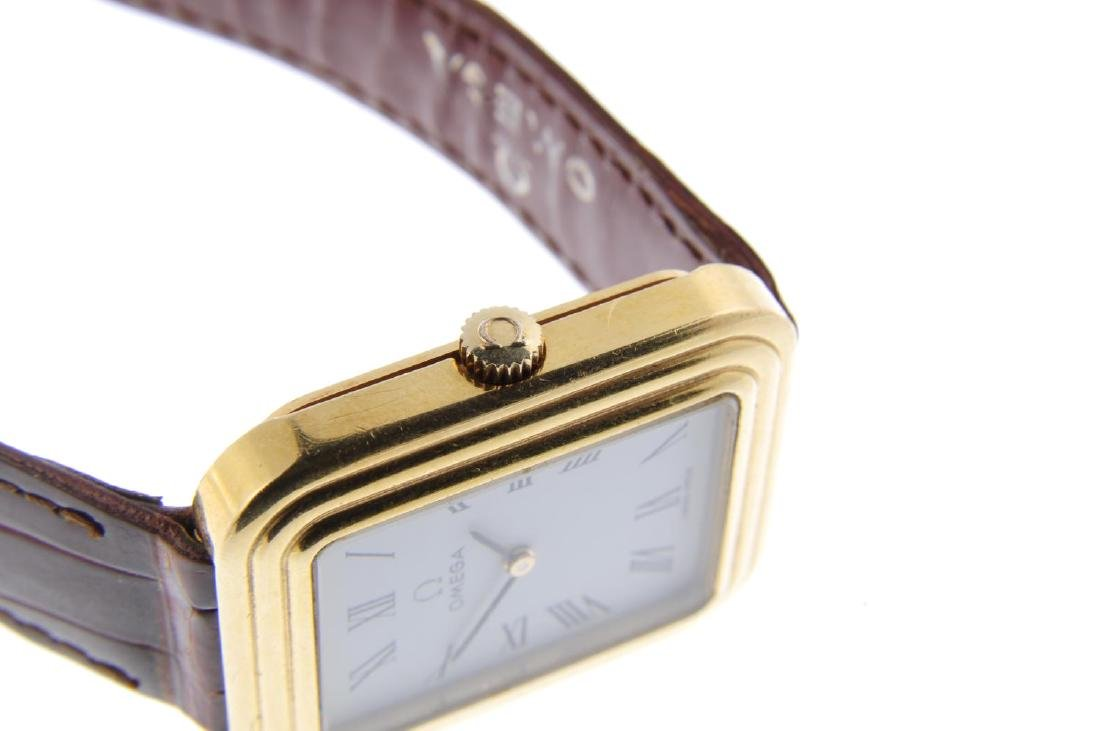 OMEGA - a gentleman's wrist watch. Yellow metal case, - 4