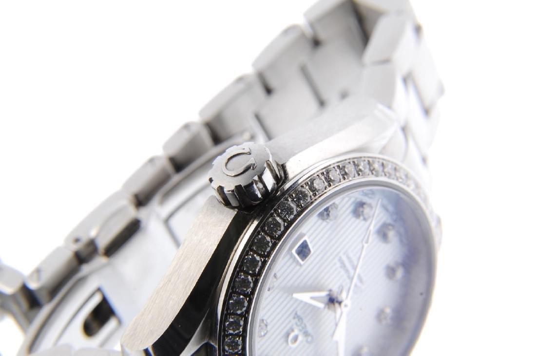 OMEGA - a lady's Seamaster Aqua Terra bracelet watch. - 4
