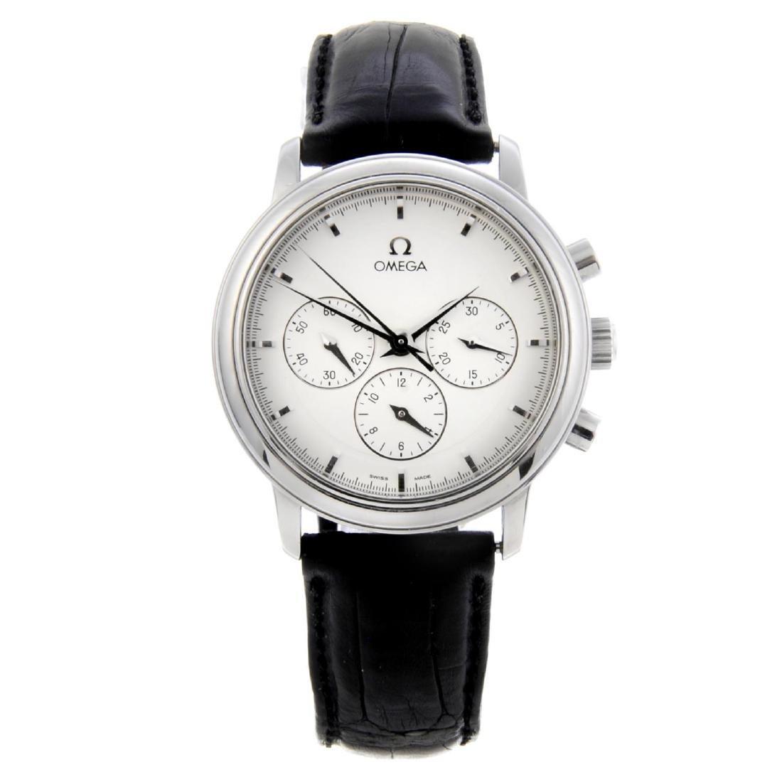 OMEGA - a gentleman's De Ville chronograph wrist watch.