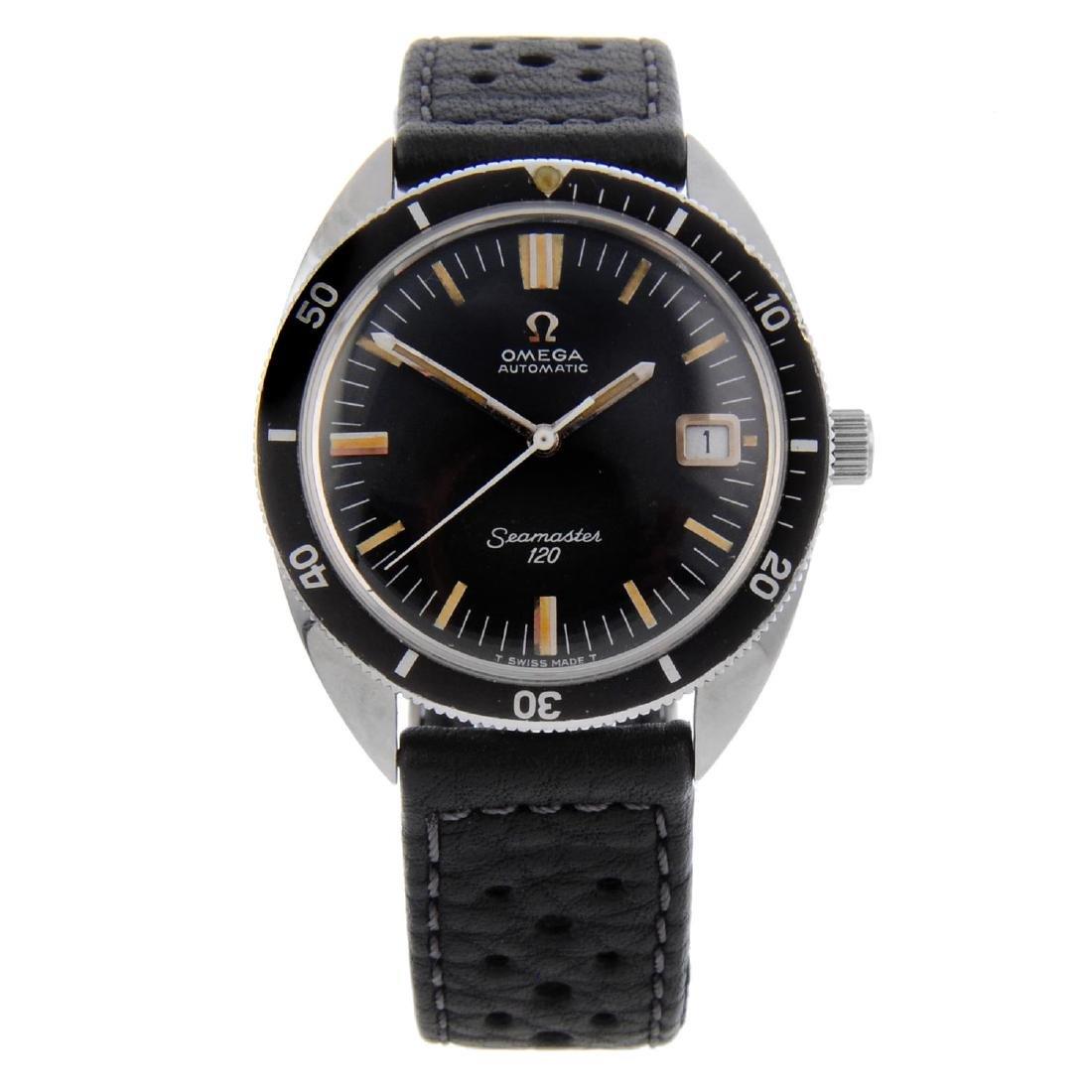OMEGA - a gentleman's Seamaster 120M wrist watch.