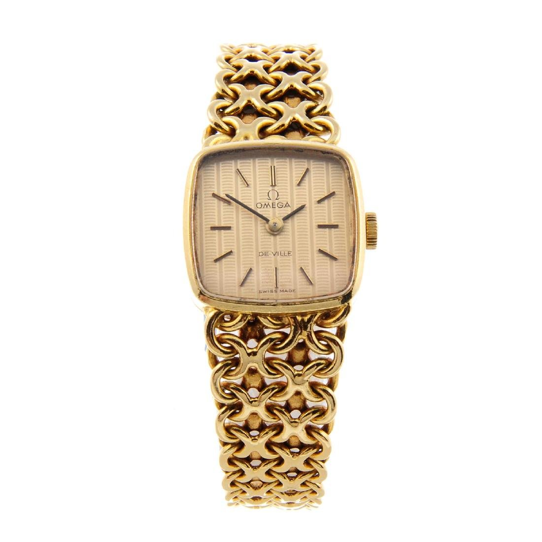 OMEGA - a lady's De Ville bracelet watch. 18ct yellow