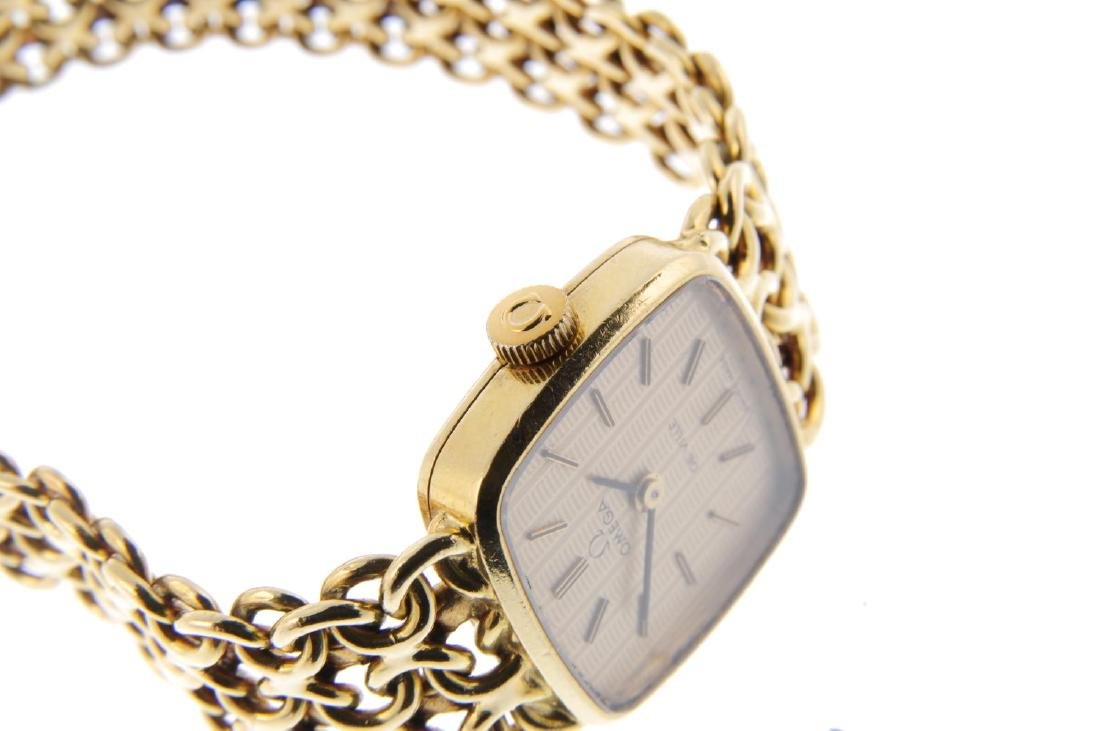 OMEGA - a lady's De Ville bracelet watch. 18ct yellow - 4