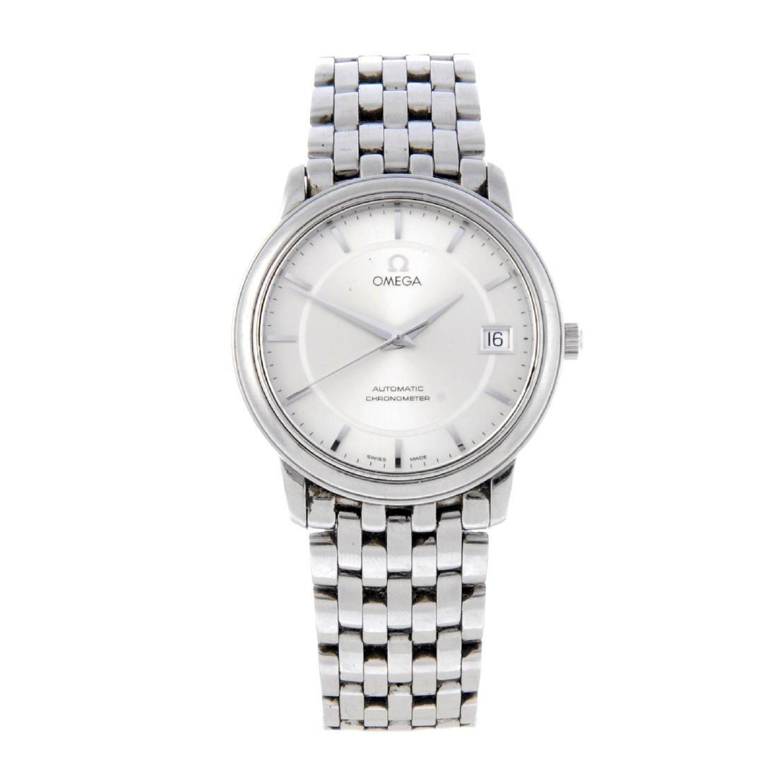 OMEGA - a gentleman's bracelet watch. Stainless steel