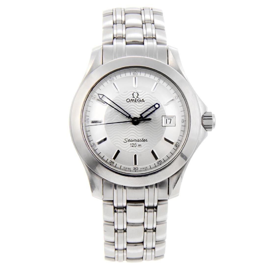 OMEGA - a gentleman's Seamaster 120M bracelet watch.