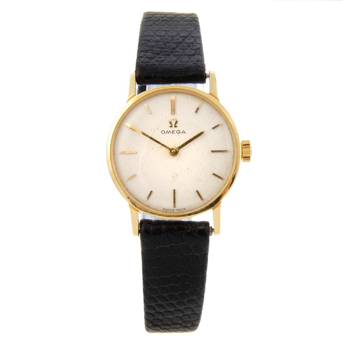 OMEGA - a lady's wrist watch. 18ct yellow gold case,