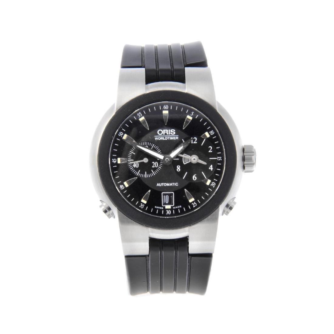 ORIS - a gentleman's TT1 Worldtimer wrist watch.