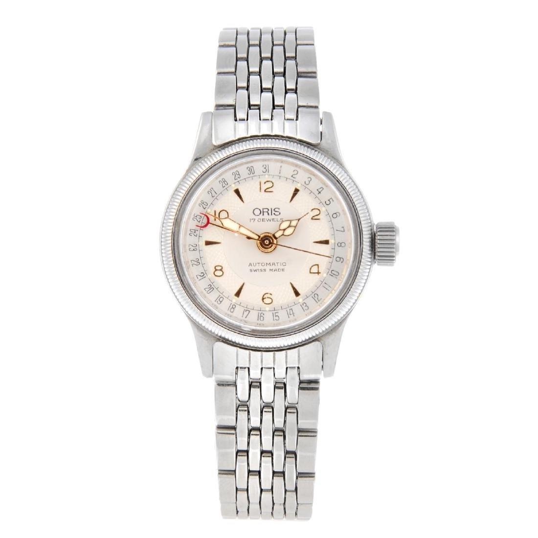 ORIS - a lady's Big Crown Pointer Date bracelet watch.