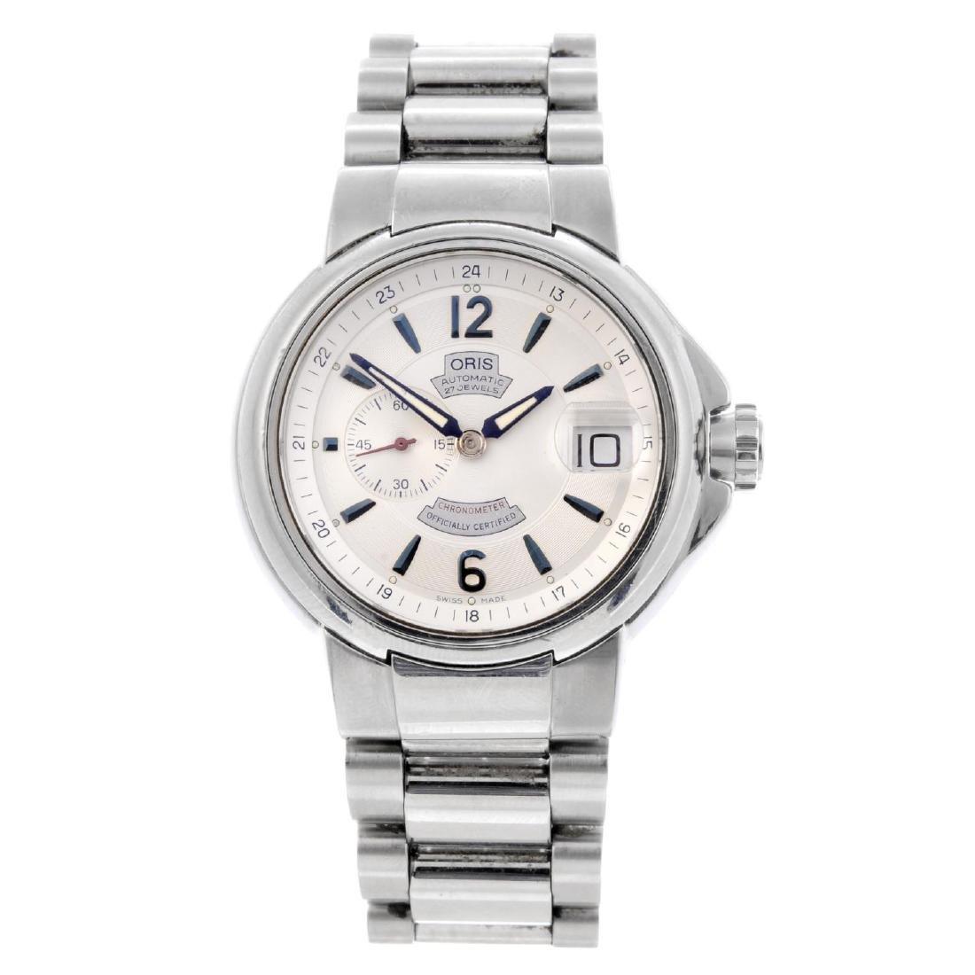ORIS - a gentleman's Full Steel Pointer bracelet watch.