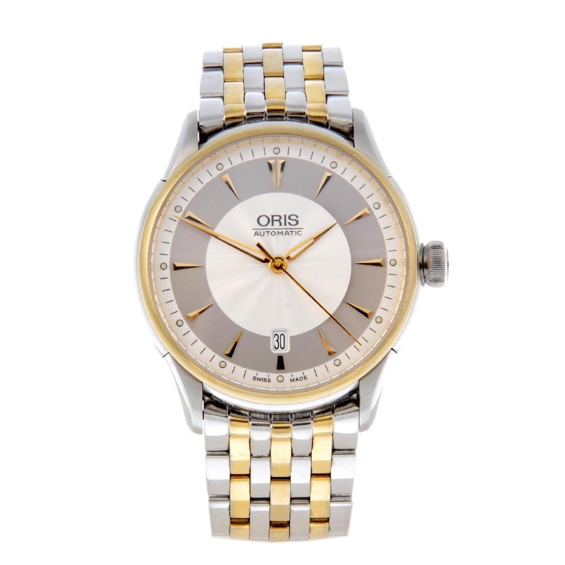 ORIS - a gentleman's Artelier bracelet watch. Stainless