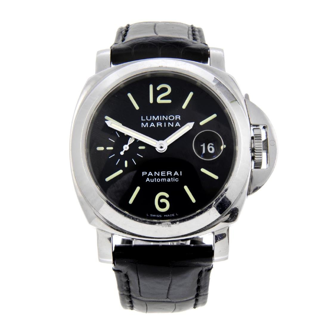 PANERAI - a gentleman's Luminor Marina wrist watch.