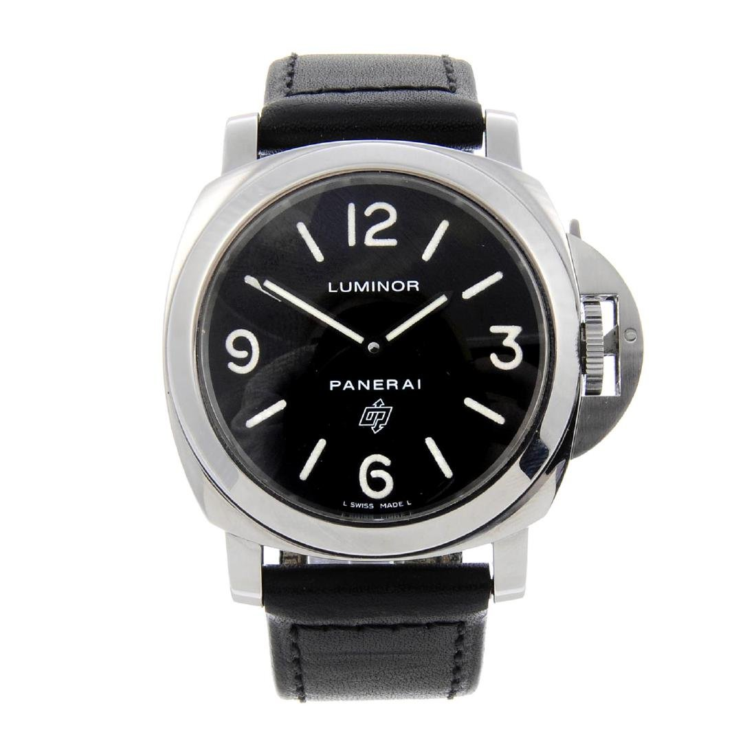 PANERAI - a gentleman's Luminor Base 'Logo' wrist