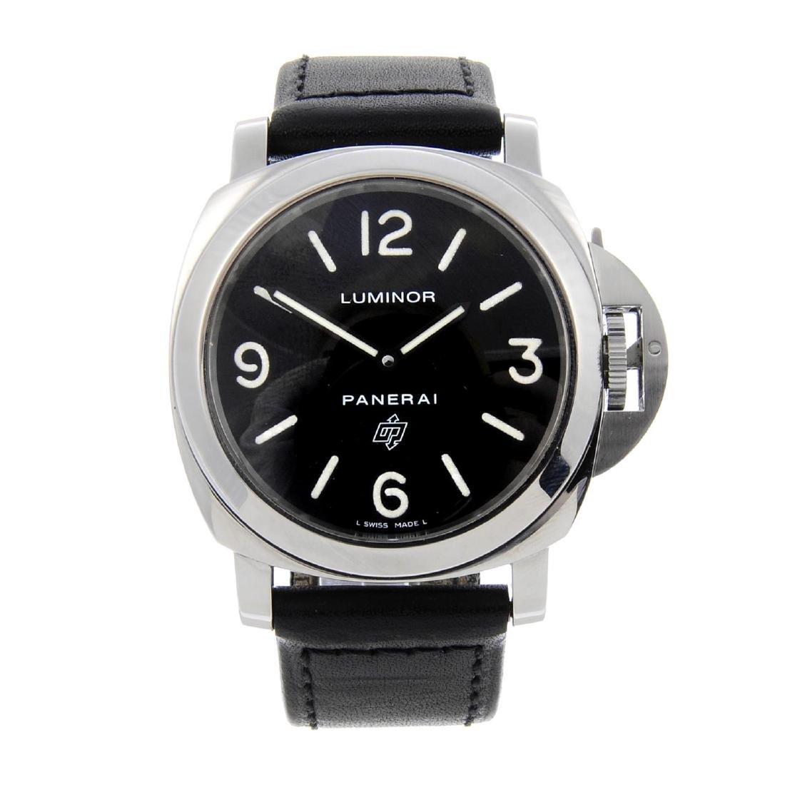 PANERAI - a gentleman's Luminor Base 'Logo' wrist