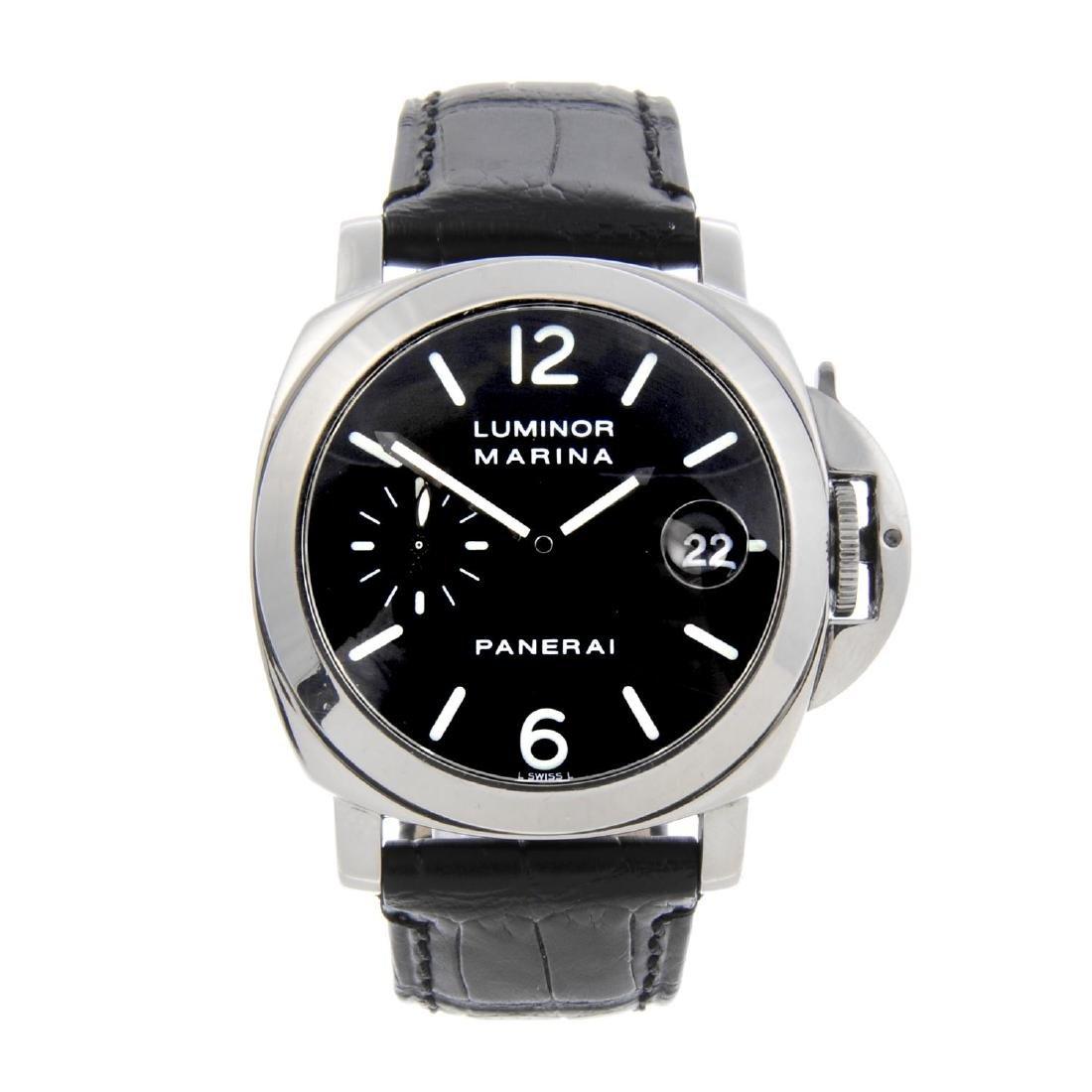 PANERAI - a gentleman's Marina wrist watch. Circa 1999.
