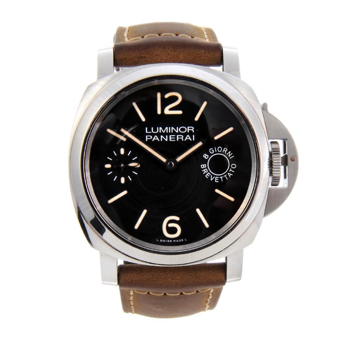 PANERAI - a gentleman's Luminor 8 Days wrist watch.