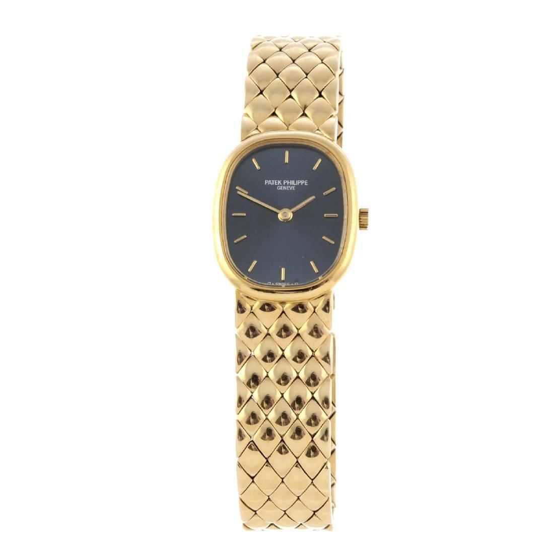 PATEK PHILIPPE - a lady's Ellipse bracelet watch. 18ct