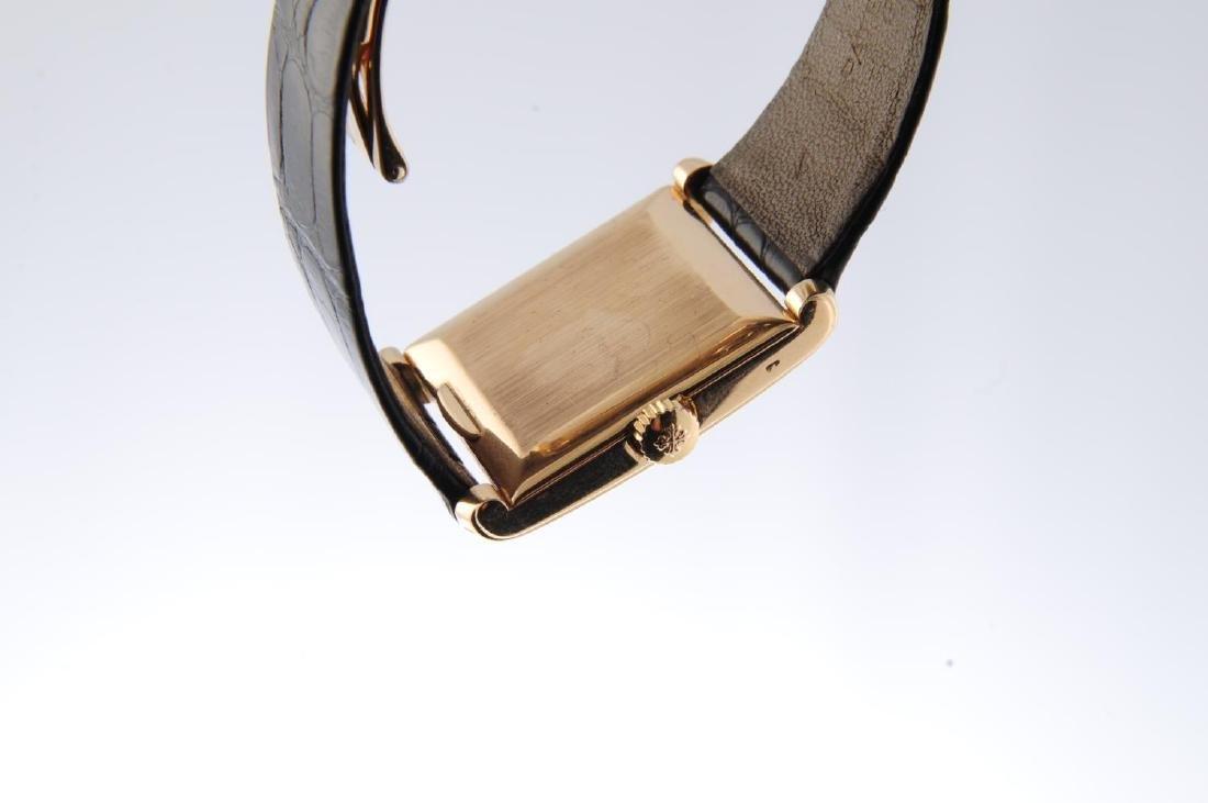 PATEK PHILIPPE - a gentleman's Rectangular wrist watch. - 2