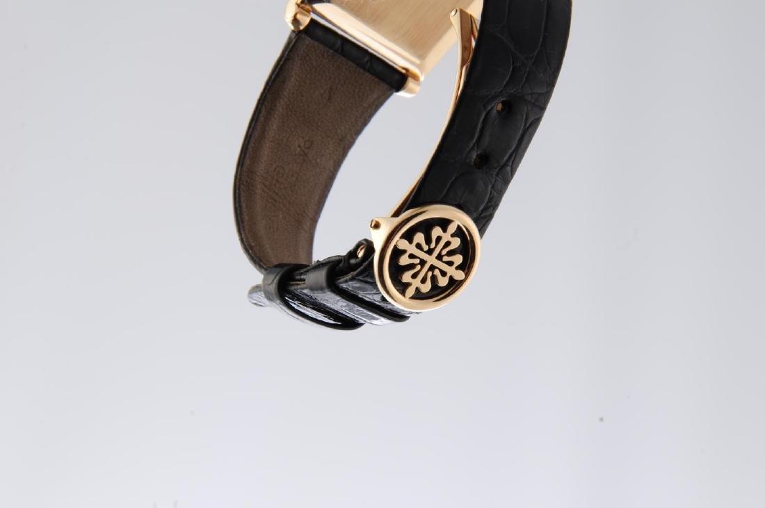 PATEK PHILIPPE - a gentleman's Rectangular wrist watch. - 4