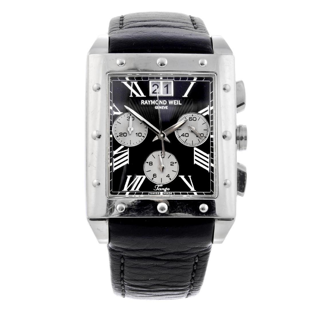 RAYMOND WEIL - a gentleman's Tango chronograph wrist