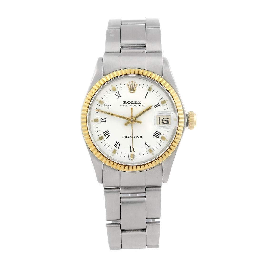 ROLEX - a mid-size Oysterdate Precision bracelet watch.