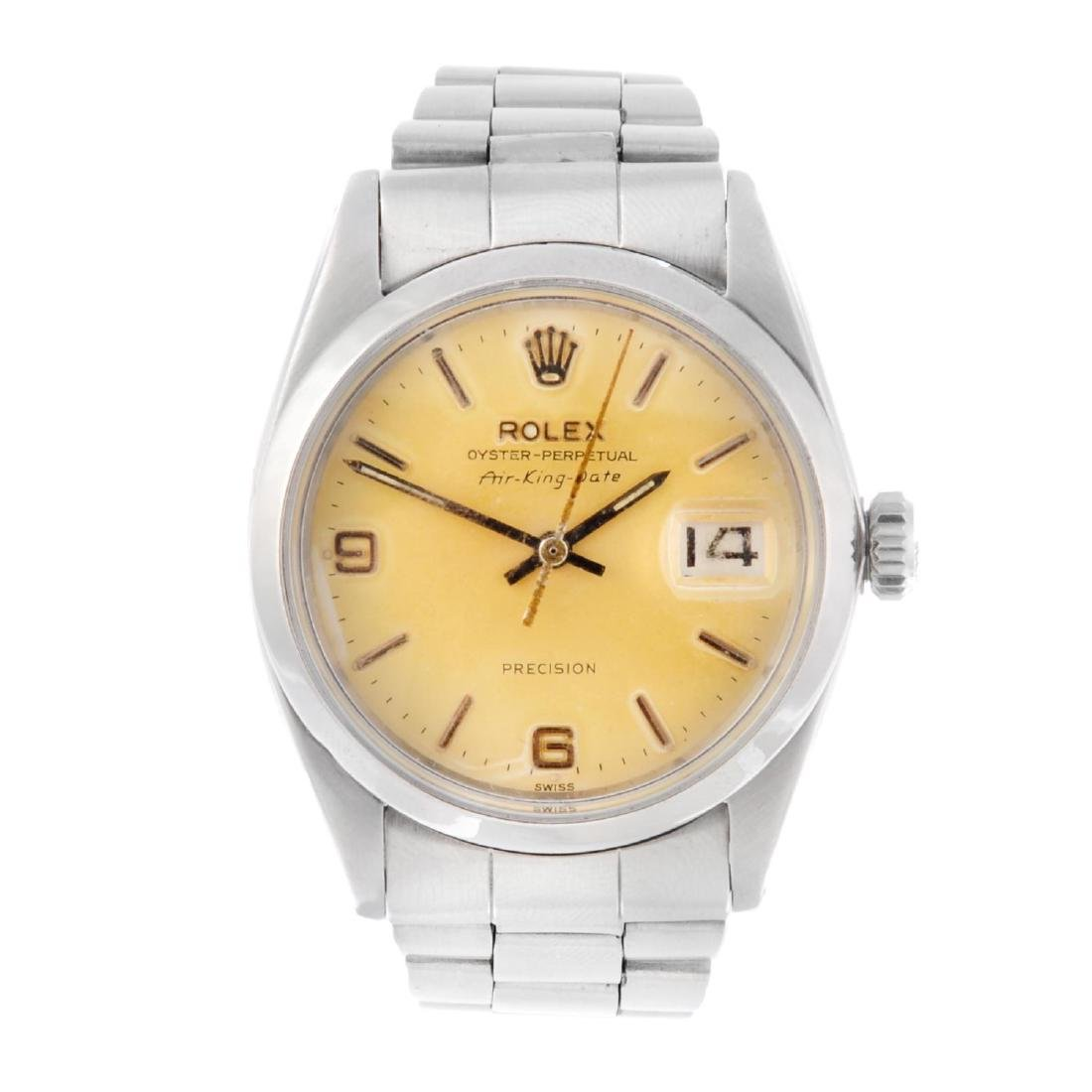 ROLEX - a gentleman's Oyster Perpetual Air-King-Date