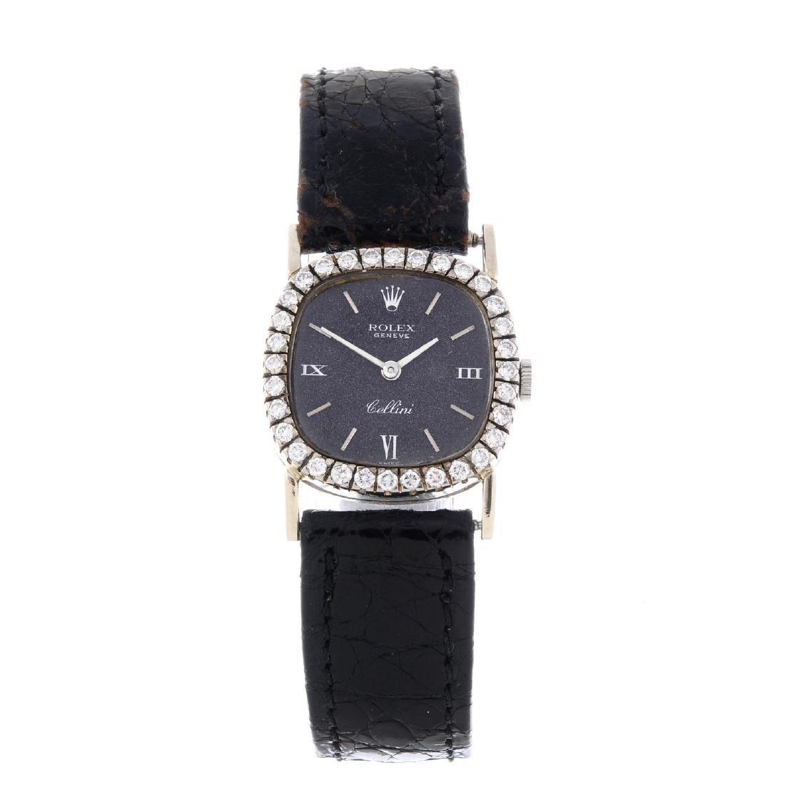 ROLEX - a lady's Cellini wrist watch. Circa 1969. White