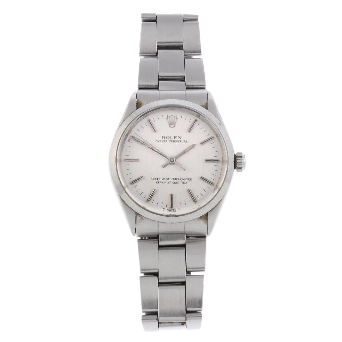 ROLEX - a gentleman's Oyster Perpetual bracelet watch.