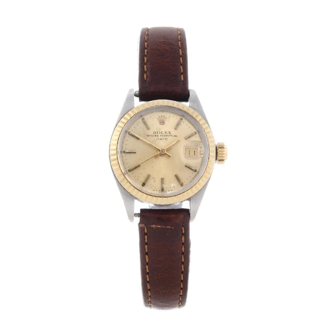ROLEX - a lady's Oyster Perpetual Date wrist watch.