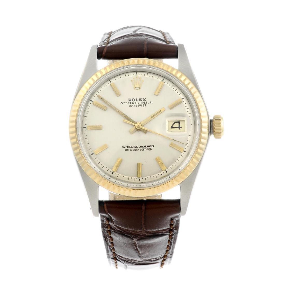 ROLEX - a gentleman's Oyster Perpetual Datejust wrist