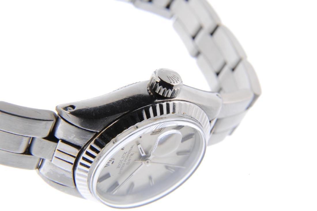 ROLEX - a lady's Oyster Perpetual Date bracelet watch. - 4