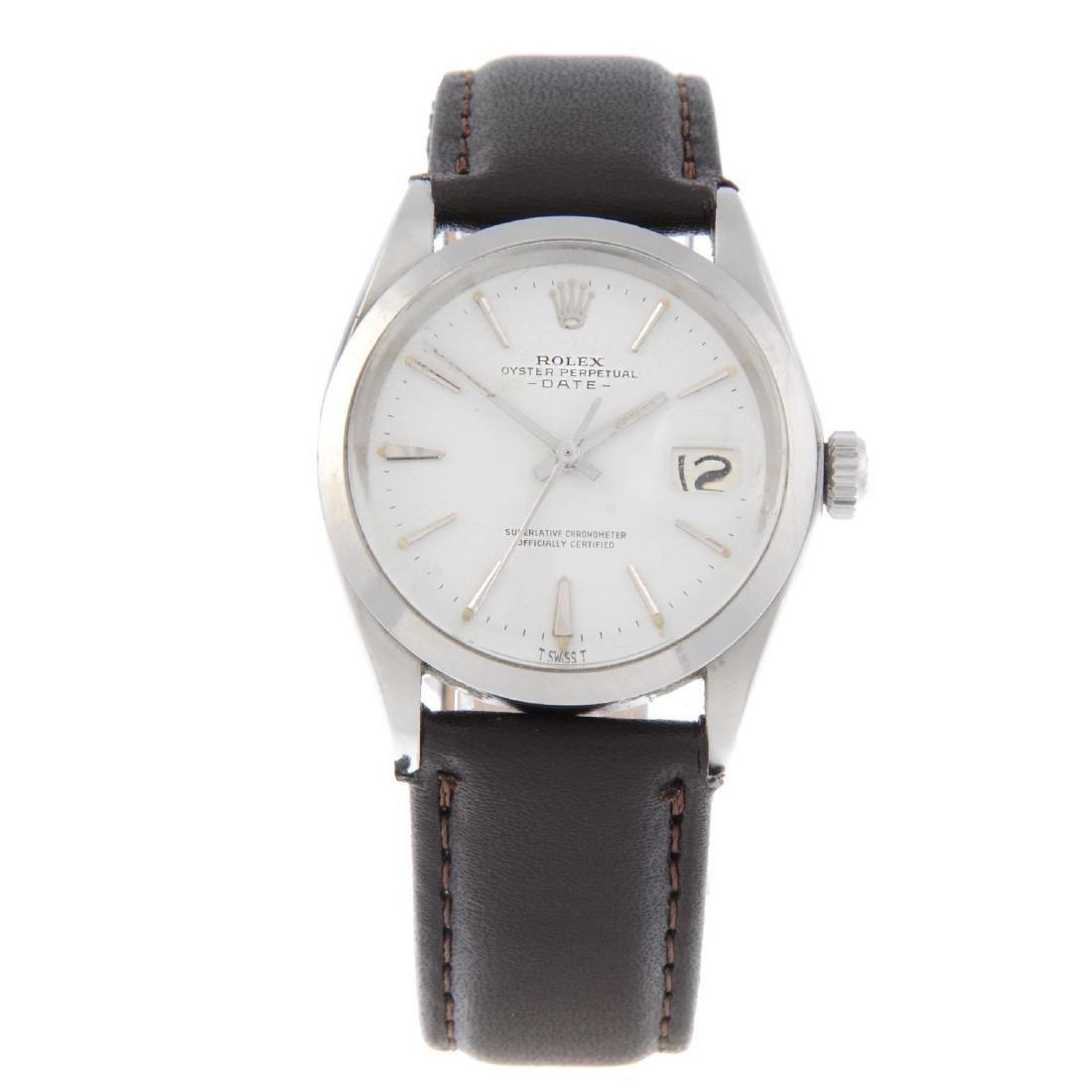 ROLEX - a gentleman's Oyster Perpetual Date wrist