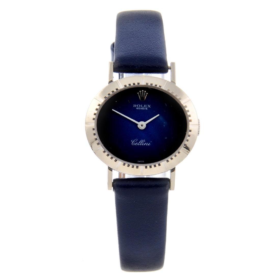 ROLEX - a lady's Cellini wrist watch. Circa 1981. 18ct