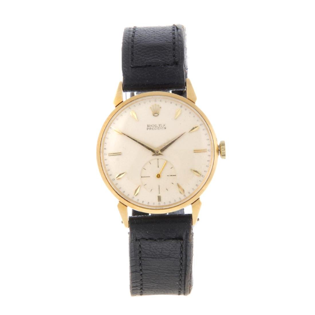 ROLEX - a gentleman's Precision wrist watch. 18ct