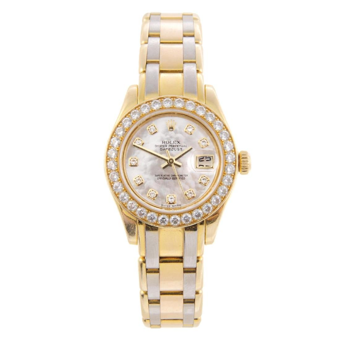 ROLEX - a lady's Oyster Perpetual Datejust Pearlmaster