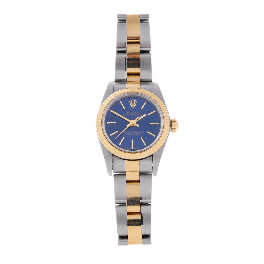ROLEX - a lady's Oyster Perpetual bracelet watch. Circa