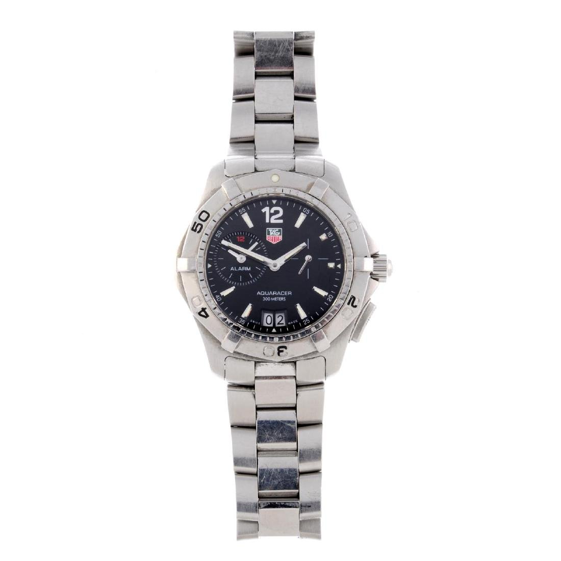 TAG HEUER - a gentleman's Aquaracer Alarm bracelet