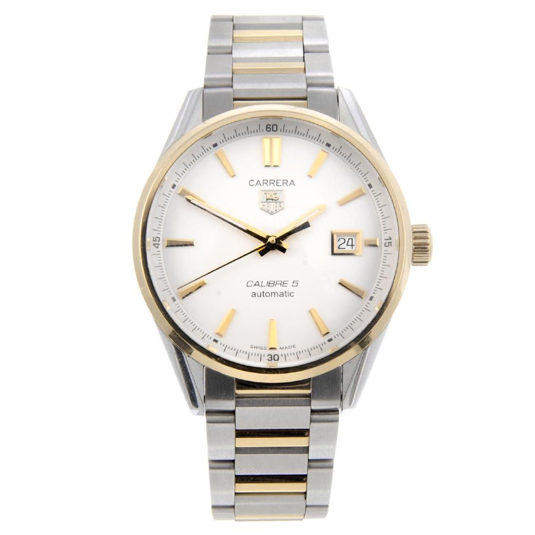 TAG HEUER - a gentleman's Carrera Calibre 5 bracelet