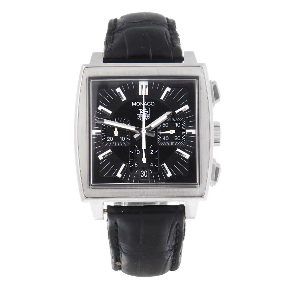 TAG HEUER - a gentleman's Monaco chronograph wrist