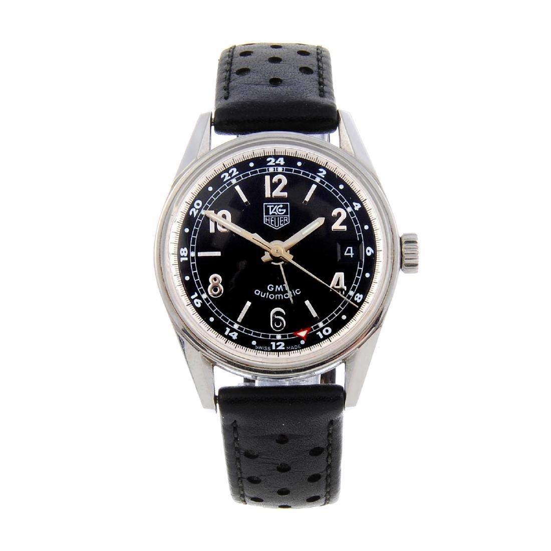 TAG HEUER - a gentleman's Carrera GMT wrist watch.