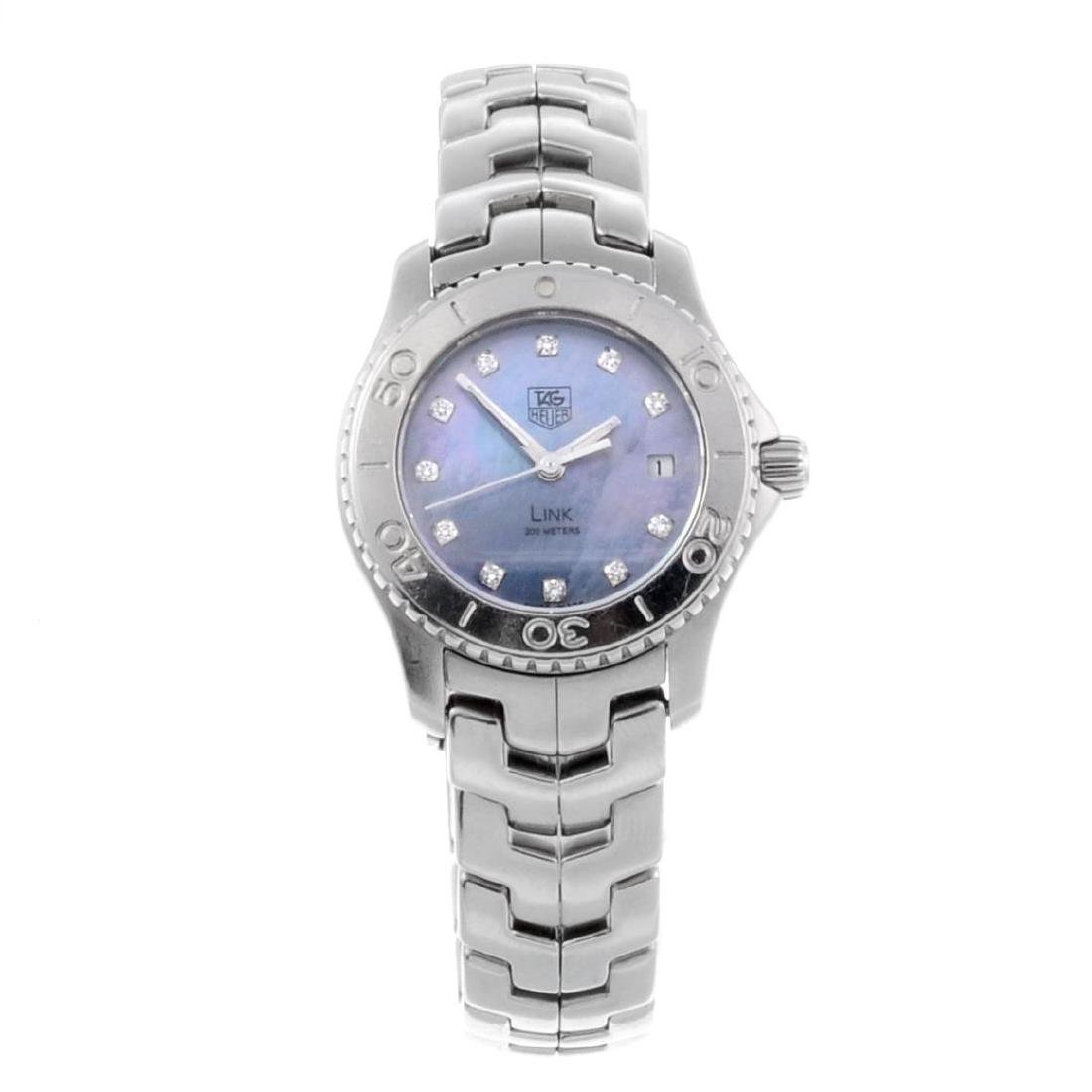 TAG HEUER - a lady's Link bracelet watch. Stainless