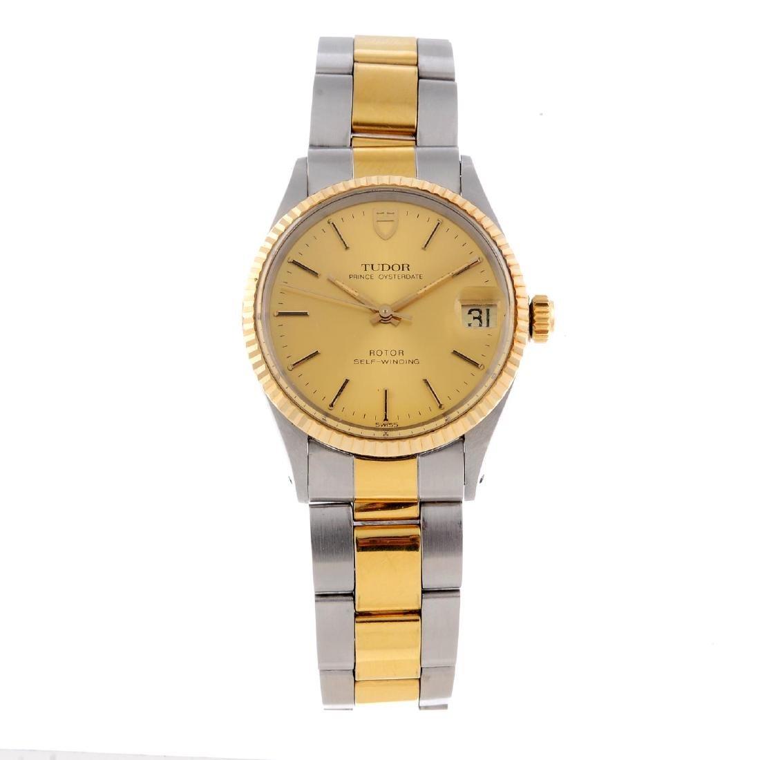 TUDOR - a mid-size Prince Oysterdate bracelet watch.