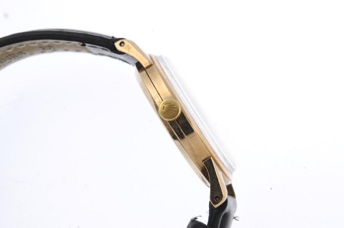 TUDOR - a gentleman's Royal wrist watch. Yellow metal - 4