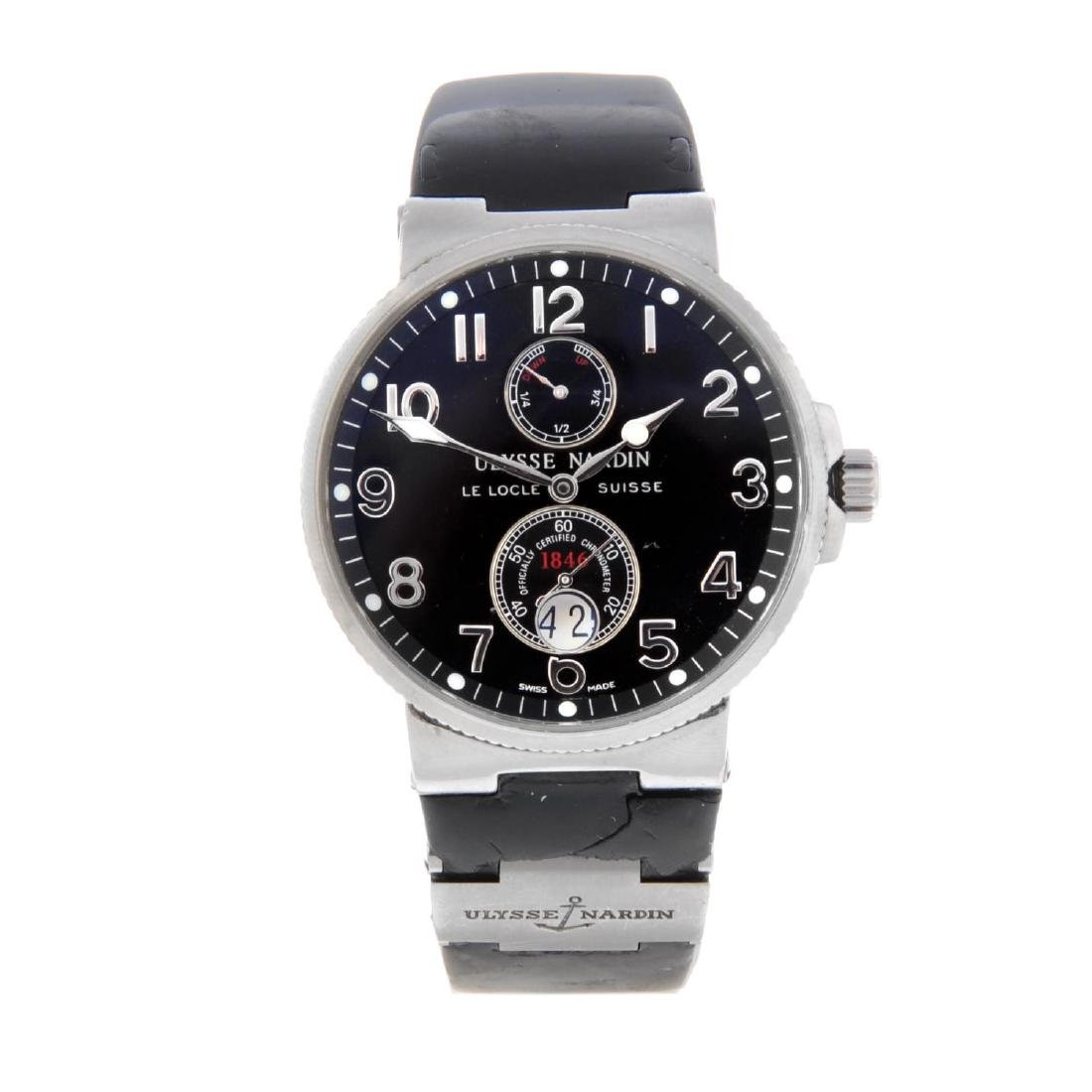 ULYSSE NARDIN - a gentleman's Maxi Marine chronograph