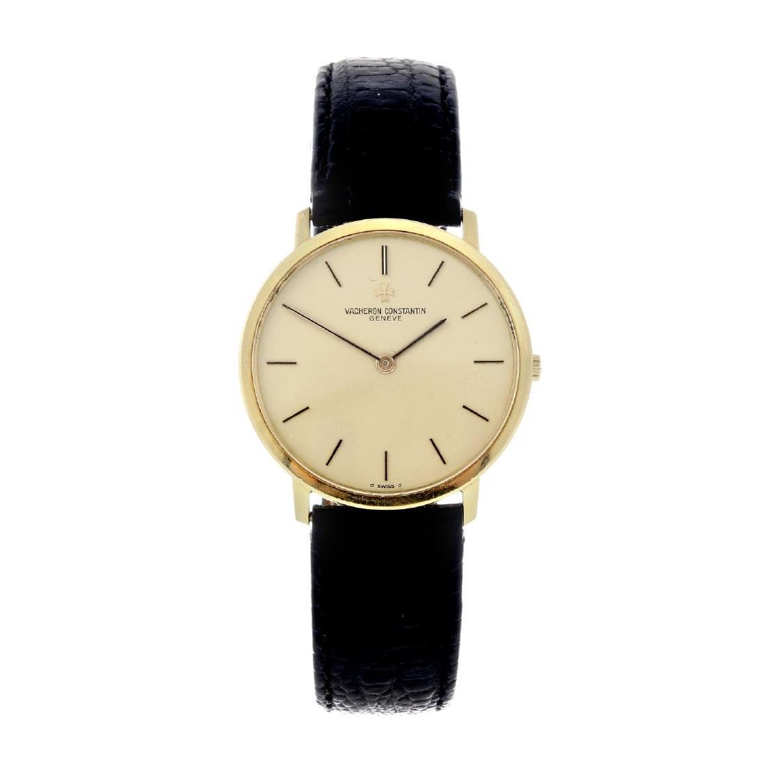 VACHERON CONSTANTIN - a gentleman's wrist watch. Yellow