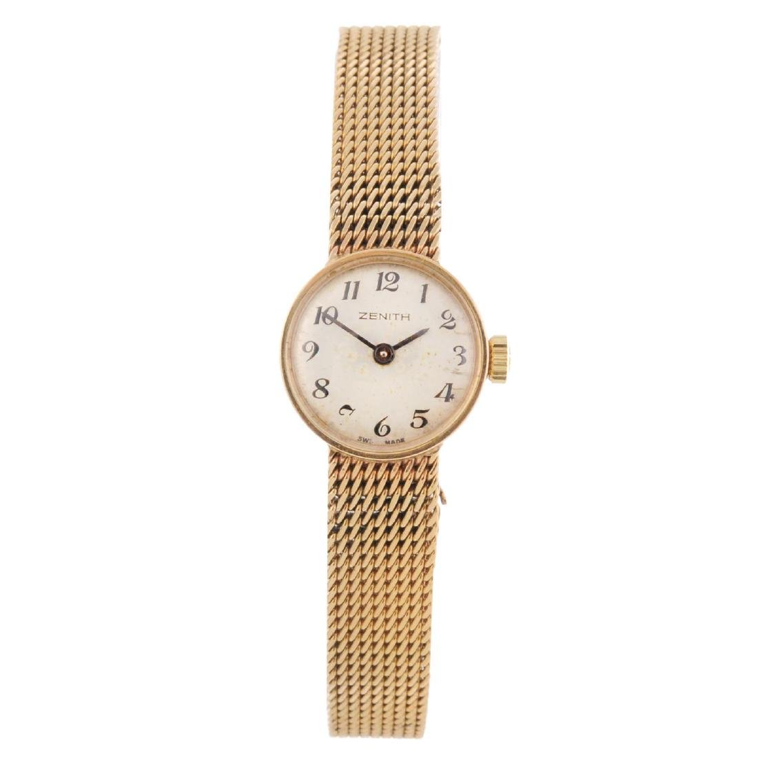 ZENITH - a lady's bracelet watch. 9ct yellow gold case,