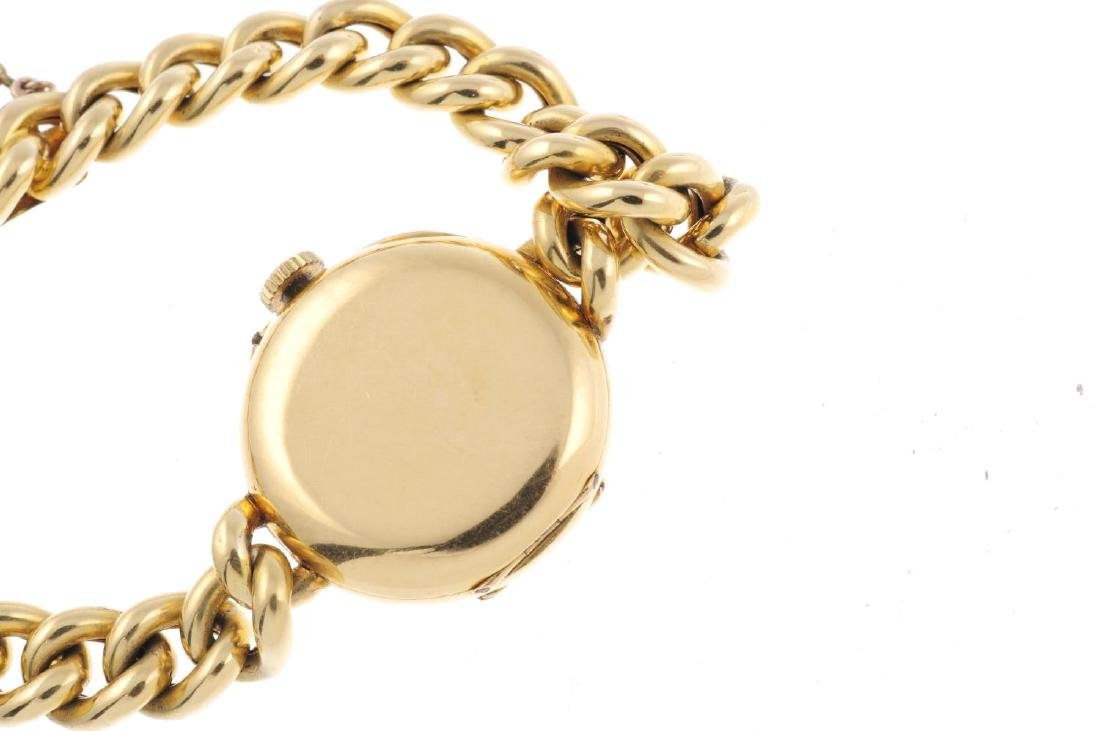 A lady's bracelet watch. 18ct yellow gold case, import - 3