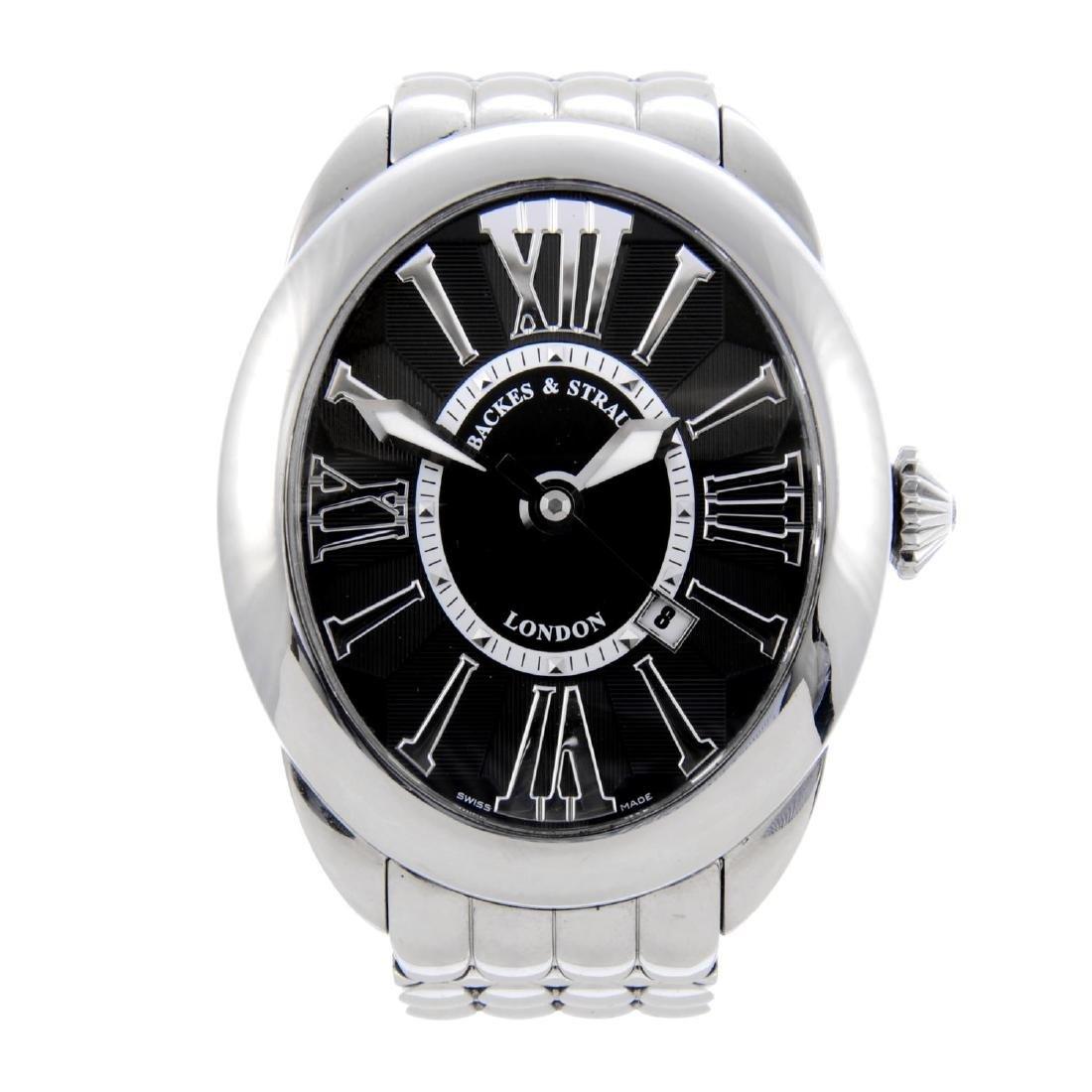 BACKES & STRAUSS - a gentleman's Regent bracelet watch.